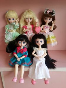 Plastic BJD Dolls Girl Fashion Dolls Ball Jointed Dolls for DIY Change pictures & photos