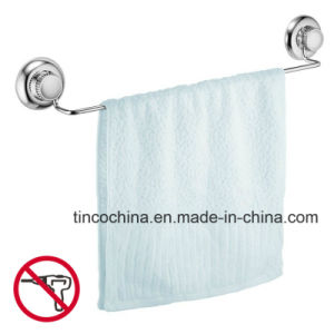 No Drill Vacuum Suction Stainless Steel Single Towel Bar Holder
