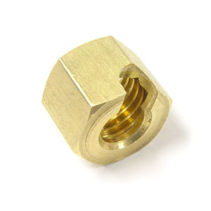High Precision Brass Machined Hexagonal Air Nozzle Nut pictures & photos