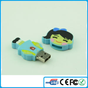 Woman PVC 64GB USB Stick for Wholesale Cheap Woman USB Gift (LDR-80)