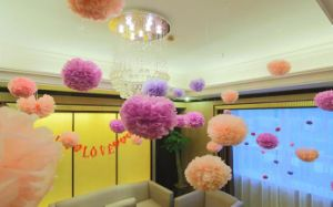 POM Tissue Paper Pompom Flower Baby Shower Birthday Party Decorations For Home