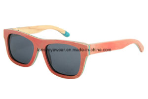 Hot Selling Handmade Wood Eyewear Sunglass (LS2003-C9)