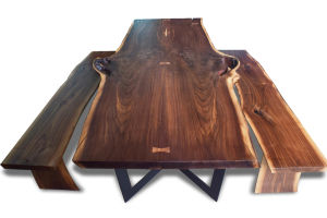 American Walnut Table Top and Stool pictures & photos