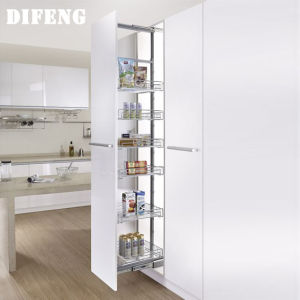 China 4 6 Layers Kitchen Cabinet Tall Unit Pull Out Baskets Pantry Basket