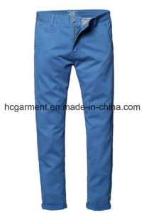 Casual Cargo Long Slim Cotton Chino Twill Pants for Man pictures & photos
