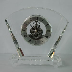 Fan Shape Crystal Clock Award New Style for Daily Use pictures & photos