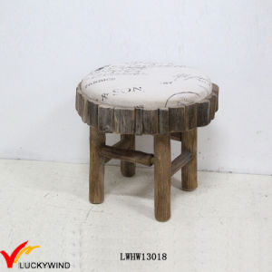 Strange China Small Round Wooden Fabric Upholstered Stool China Customarchery Wood Chair Design Ideas Customarcherynet