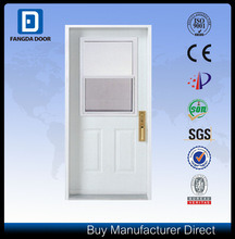 Half Frosted Decorative Caming Inserted Tempered Glass Steel Prehung Front Door pictures & photos