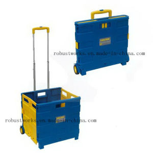 Folding Plastic Shopping Cart (FC403C-2) pictures & photos