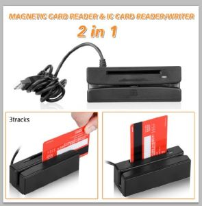 Msrq5 2in1 Plug and Play 3 Track USB Magnetic Plus IC Card Reader