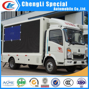 HOWO 4X2 LED Panel Mobile Display Truck for Sale pictures & photos