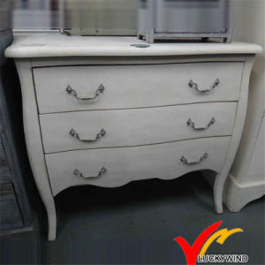 China Reproduction White Antique French Provincial 3 Drawer ...