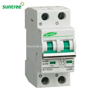 2 Pole DC550V Solar Electric Circuit Breaker pictures & photos