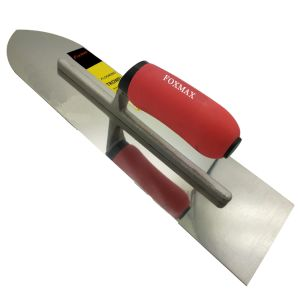 Stainless Steel Plastering Trowel with Big TPR Grip Handle Fpt12