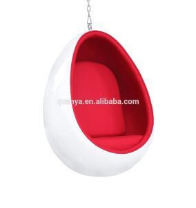 Fiberglass Living Room Furniture Swing Hanging Oval Egg Shape Pod Chair