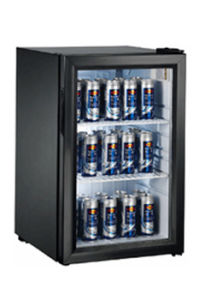 Glass Door Mini Bar Fridge With Compressor Fan Cooling System