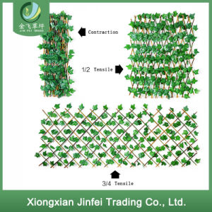 Upscale Decorative Indoor Artificial Fence Hedge Plastic Greenery Leaf Fence