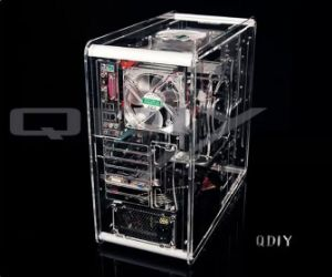 China Qdiy Pc A008 Pc Excelent Cool Personality Transparent Acrylic