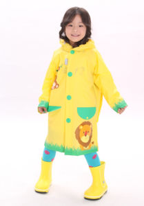 Grass Yellow Fashion Raincoat for Kids