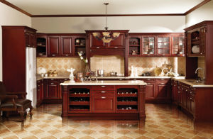 America Style Solid Wood Kitchen Door (zq-003) pictures & photos