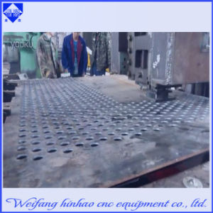 Custom Made Screen Mesh Hole Aluminum Plate Stamping Machine