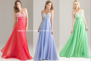 Chiffon Halter Evening Dress (EV0085)