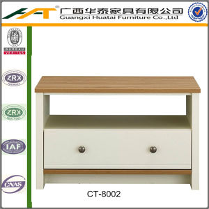 China Coffee Table In Rustic Oak And Cream Effect China Coffee