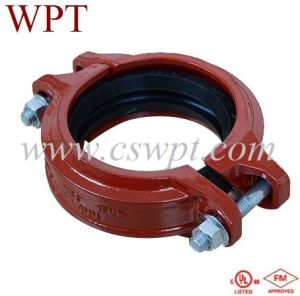 Ductile Cast Iron Grooved Fittings Angel Pad Coupling with UL&FM