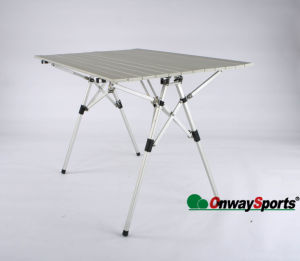 4-Foot Rectangular Fold-in-Roll Aluminum Camping Table