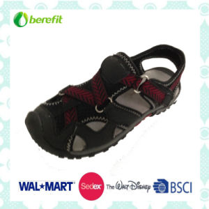 PU Upper with Magic Tape and TPR Sole, Men′s Sporty Sandals pictures & photos