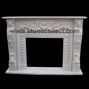 Carved Pure White Fireplace Mantel pictures & photos