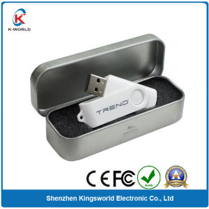 Metal Swivel USB with Metal Box Package