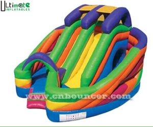 Newest Rainbow Commercial Grade Inflatable Slide