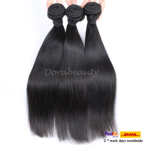 Slickly Straight Natural Human Hair Weft Remy Human Hair Extension pictures & photos