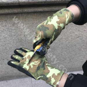 Camouflage Printed Cut Resistant Work Glove with Sandy Nitrile Coated (NK3065) pictures & photos