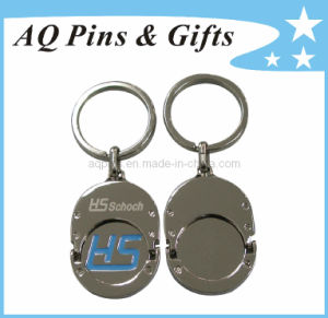 Trolley Coin Keychain with Laser Engraving pictures & photos