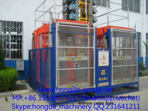 Rack Type Building Hoist-Sc200/200 pictures & photos