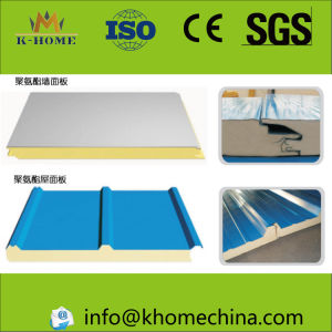Steel Building Material Rockwool Glasswool Roof Sandwich Panel pictures & photos