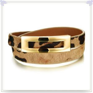 Stainless Steel Jewelry Leather Jewelry Leather Bracelet (LB290)