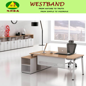 2015 New Design Modern Cheap Alloy Wooden Office Table (WB-Chris)
