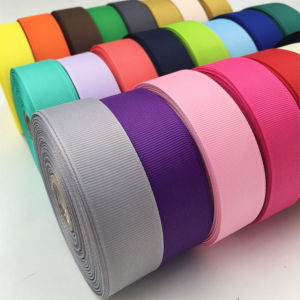 Single/Double Faced Polyester Printed/Plain Organza/Grosgrain/Satin Ribbon for Gifts (7012 satin) pictures & photos
