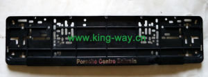 European License Plate Frame with 3D Logo