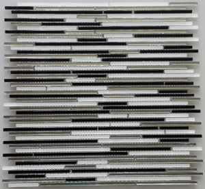 Linear Wall Mosaic/Crystal Mosaic/Glass Mosaic/Strip Mosaic Tile (HGM422) pictures & photos