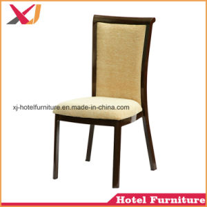 Strong Steel/Aluminum Imitated Wood Dining Chair for Banquet/Restaurant/Hotel/Hall