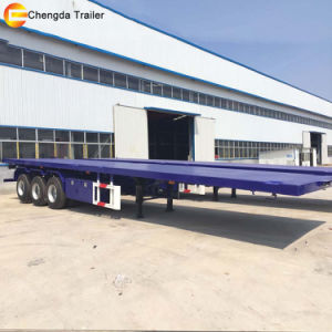 3 Axle 40ton Flatbed Semi Trailer Container Trailer pictures & photos
