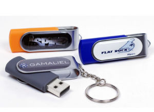 High Quality Swivel Epoxy Logo USB Flash Drive Resin Domed Twister USB Stick pictures & photos