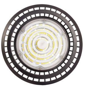 China Manufacturer Warehouse Industrial 1-10V Dimmable LED High Bay Light 200LMW UFO Highbay Light 100W