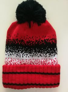 868582e526e China Red Men′s Winter Beanie Hat Thick Skull Cap for Adult - China ...