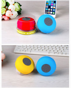 Suction Portable Waterproof Wireless Bluetooth Speaker Box Player Mic