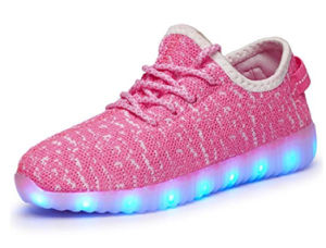 Kids Boys Girls Breathable LED Light up Shoes Flashing Sneakers